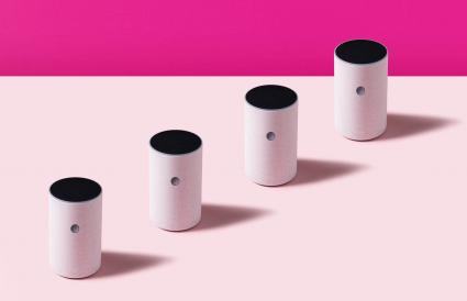 Smart speaker in studio