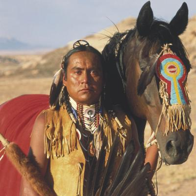 Adult male in plain indian clan