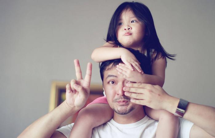 Little girl with her uncle