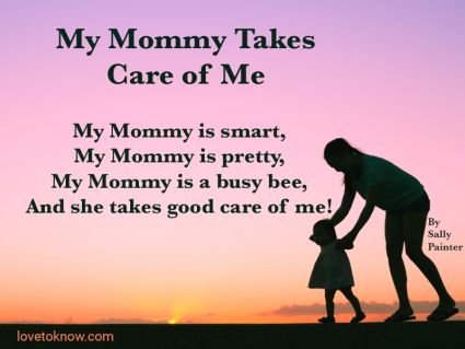 Mother and daughter and a poem