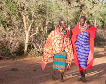 Maasai women in traditional dress.