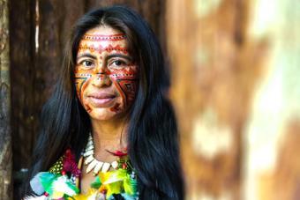 Native Brazilian woman