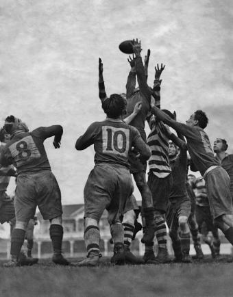 1940's rugby match