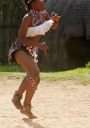 Zulu woman dancer