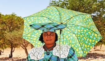 Herero woman in traditional dress