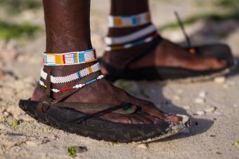 Traditional Masai shoes