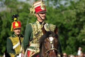 Hungarian Hussars in period dress