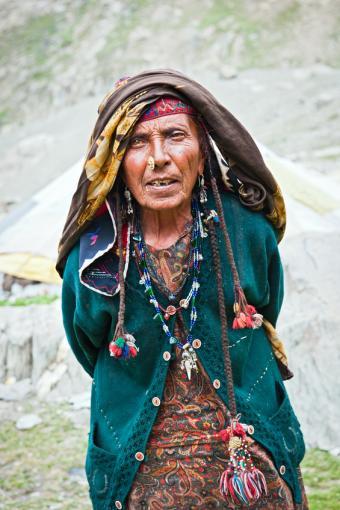 Gypsy woman in Kashmir, India