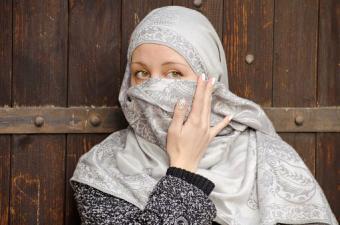 Muslim girl wearing hijab