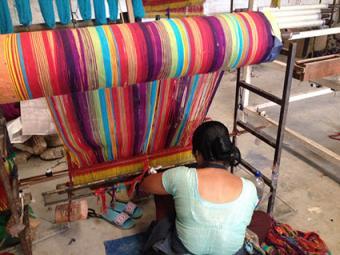 Woman weaving in Kathmandy Valley, Nepal