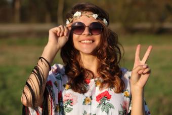 Trendy hippie clothing