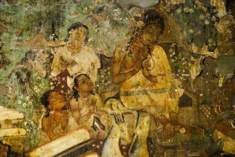 Mural painting in Ajanta cave