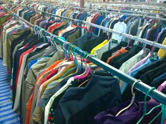 Secondhand clothes in the market