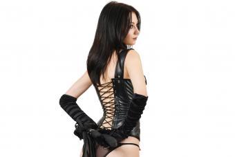 Fetish woman in corset