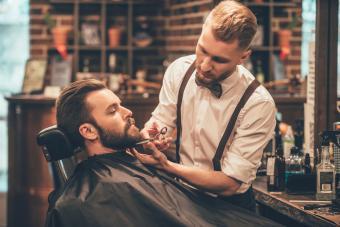 Barber grooming beard