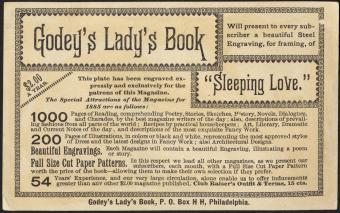 Sleeping Love, Godey's Lady's Book [back]