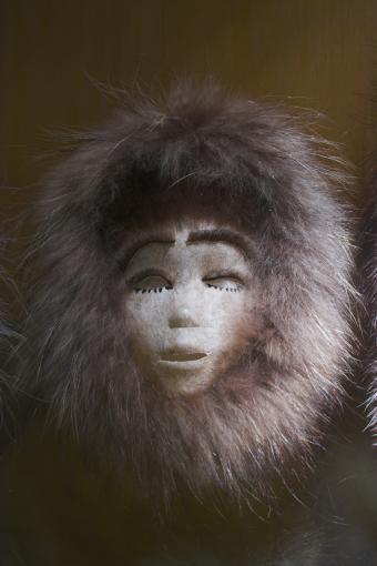 Traditional eskimo mask