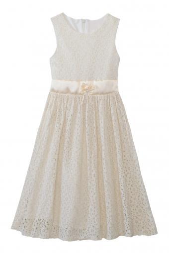 Ivory lace ribbon flower dress