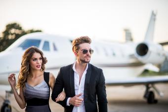 Lovely couple at the airport