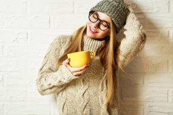 Hipster Girl in sweater