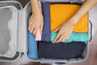 Packing travel clothes
