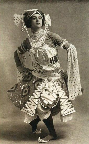 Le dieu bleu costume designed by Léon Bakst.