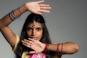 Indian woman wearing bracelets