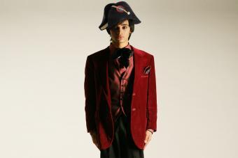 Silk velvet waistcoat