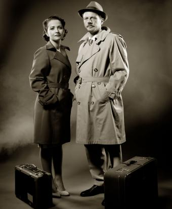 Couple wearing trench coats