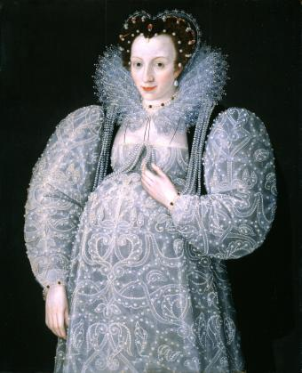 Attributed to Marcus Gheeraerts II - Portrait of an Unknown Lady