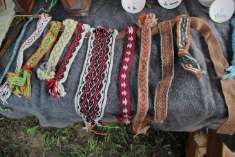 Ribbons created by card weaving