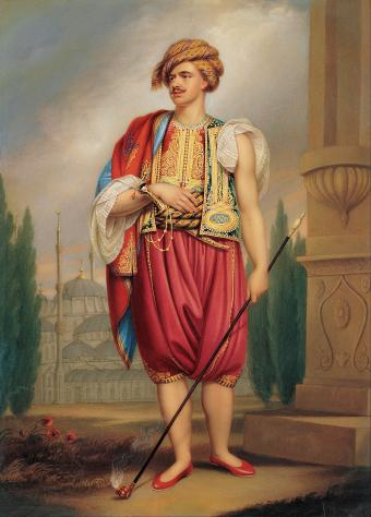 A Portrait of Thomas Hope in Turkish Costume