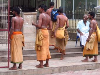 Men wearing sarong clothes