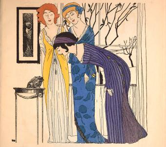 Paul Poiret fashions, 1908, illustrated by Paul Iribe