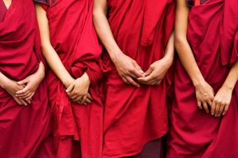 Buddhist monk robes, Bhutan