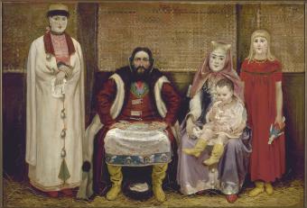 A Russian merchant family in the XVII century - Andrey Ryabushkin