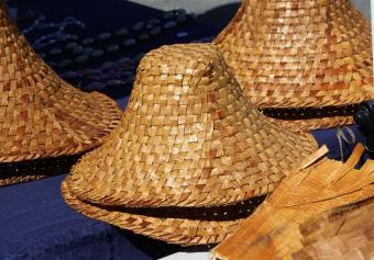 Hand woven Native American hats
