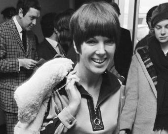 Mary Quant in a minidress (1966)