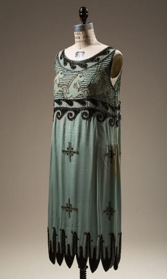 "1925 unlicensed copy of Madeleine Vionnet's ""Little Horses"" dress"