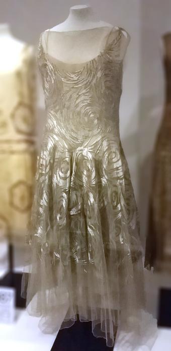 Vionnet evening gown, embroidered silk net, 1931