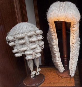 Wigs worn by lawyers and judges in England