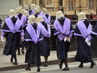 British Judges in wigs