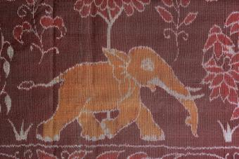 Traditional Ikat cloth, 1900, in Orissa, India