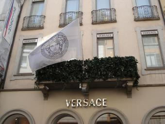 The Versace boutique in Milan, Italy.