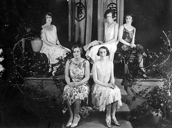 Mannequin parade at Finney Isles and Co., Brisbane, 1929