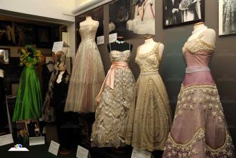Fontana Sisters dresses on display at the Fondazione Micol Fontana
