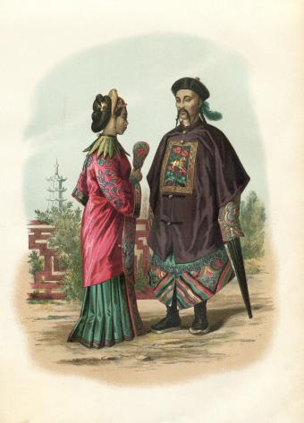 Traditional 19th century Chinese couple