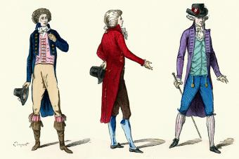 French fashion for men in 18th century