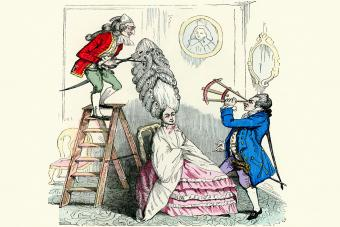Caricature of a 18th Century Hairdresser