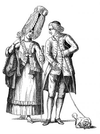 18th century caricature of baroness of Bel-Air